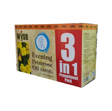 Wyse Evening Primrose Oil 1000mg (3 X 200s)