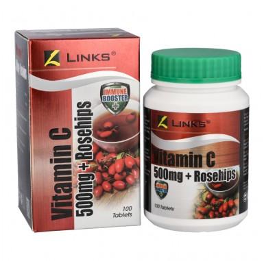 Links Vitamin C 500mg + Rosehips